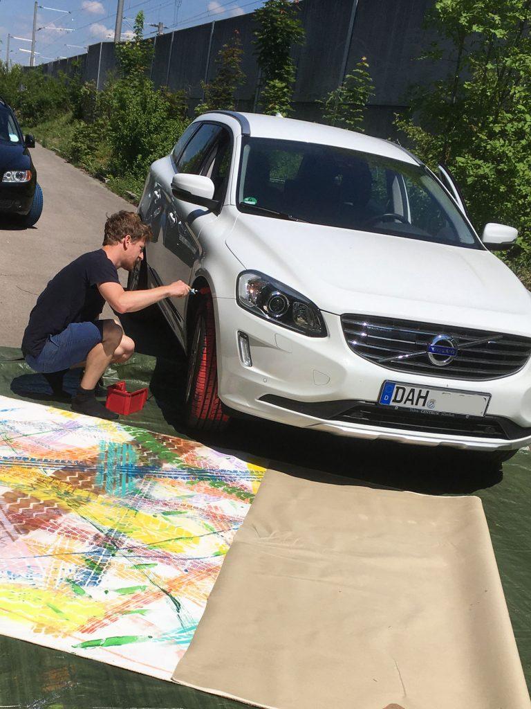 2017   Leinwand   Spuren   360 x 160cm