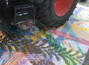 2017 | Leinwand | Spuren | 360 x 160cm